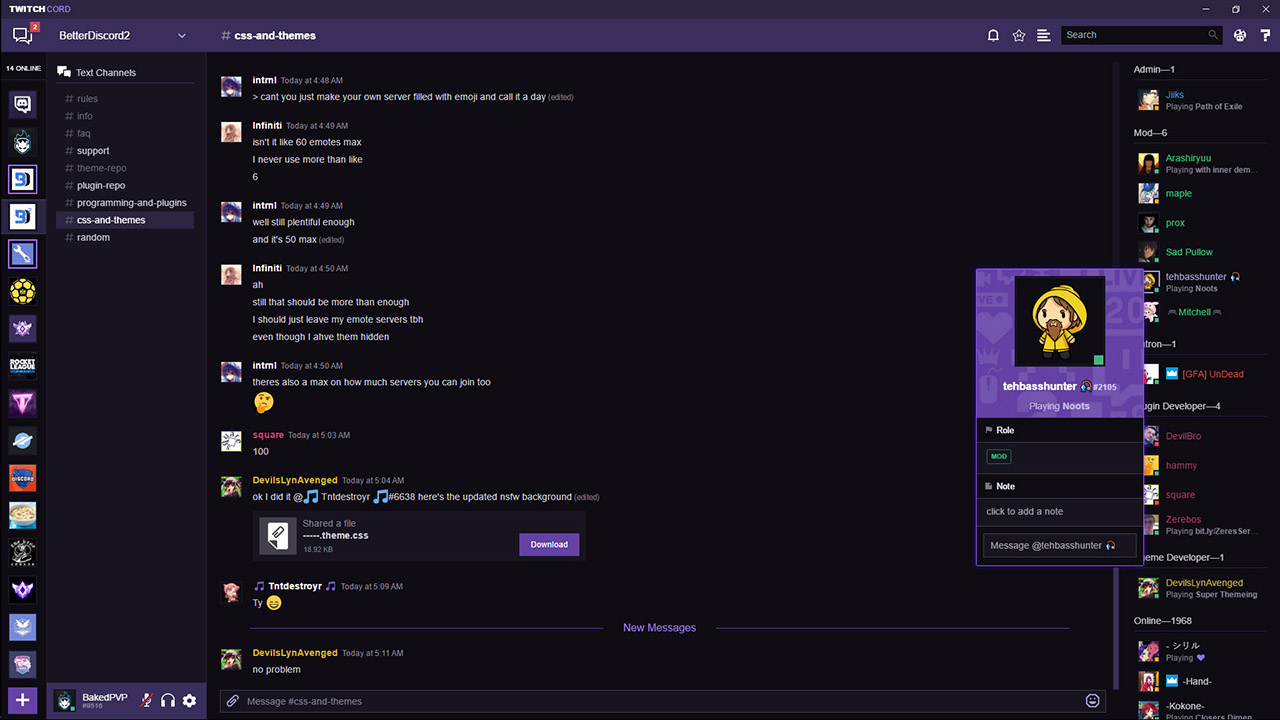 Twitchcord | Twitch styled theme for Discord